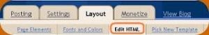 edit html blogger